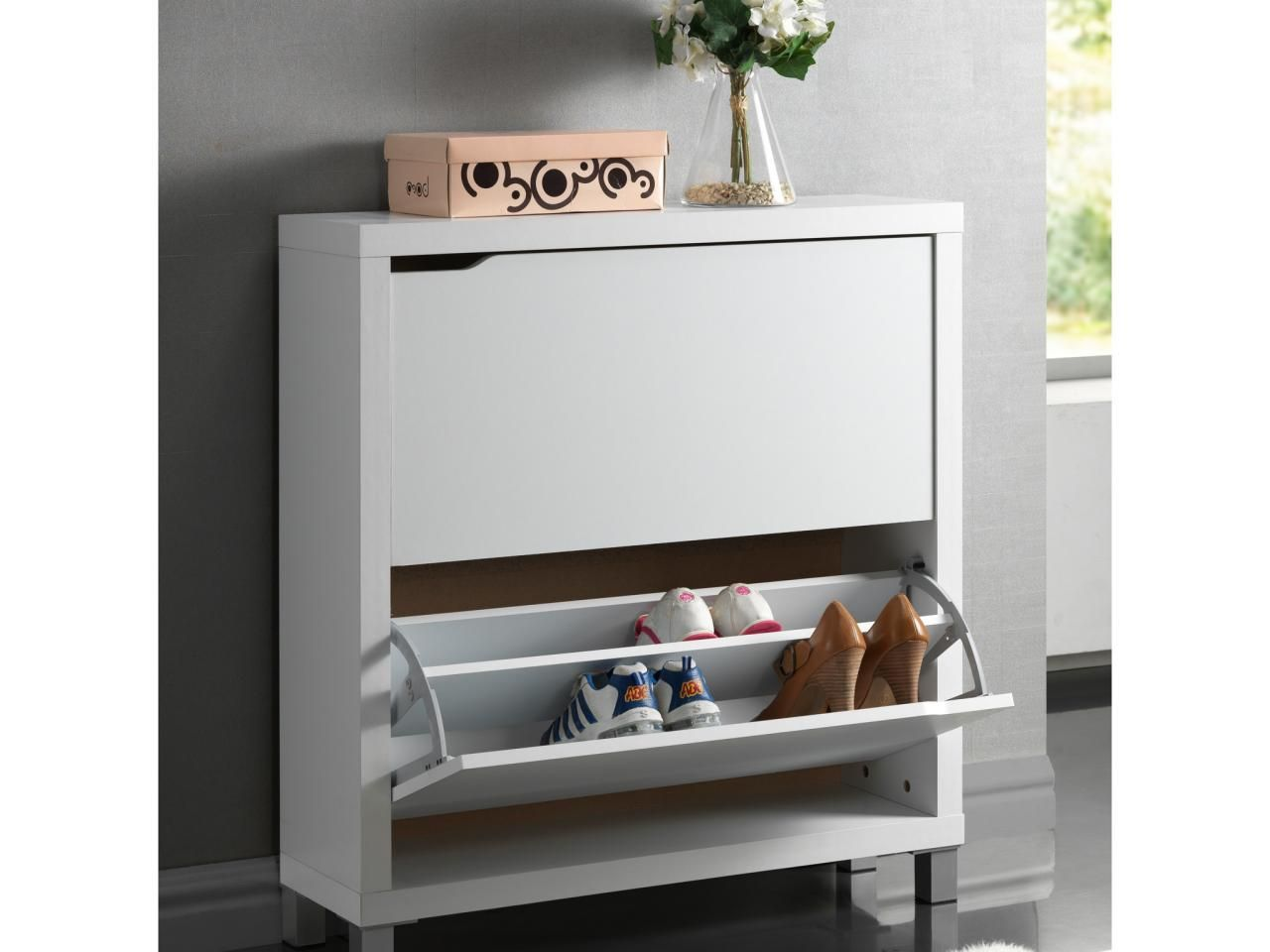 Slim Shoe Cabinet 7 Multifunctional Organizers For Small Entryways Paper Keys And
