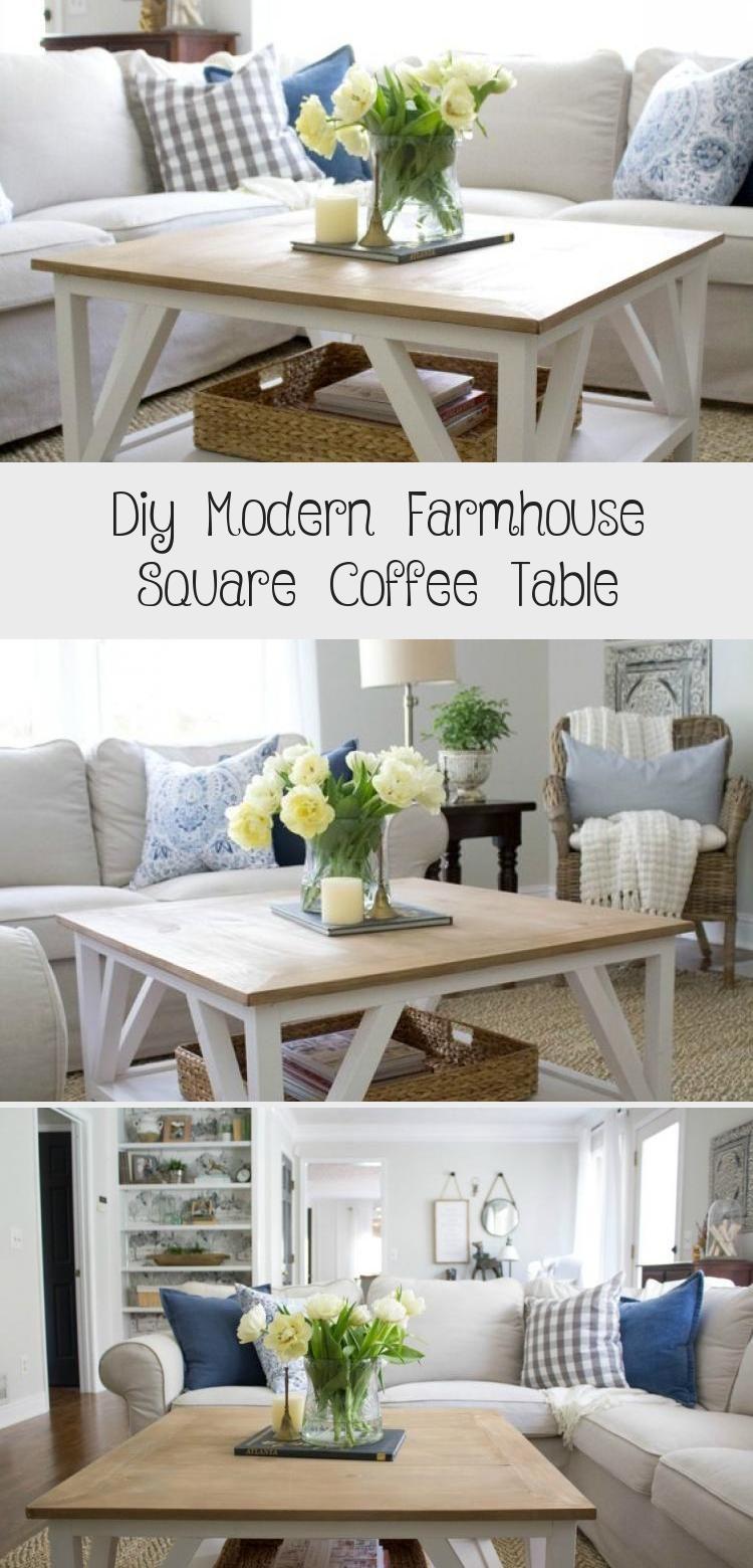 Diy Modern Farmhouse Square Coffee Table Decor Modern Farmhouse Coffee Table Modern Farmhouse Diy Coffee Table Farmhouse [ 1560 x 750 Pixel ]