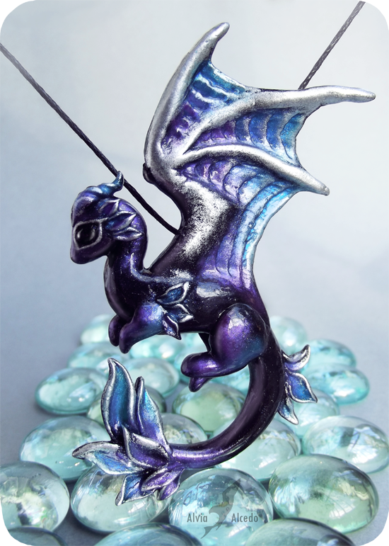 Shadow moon dragon necklace by AlviaAlcedo on deviantART