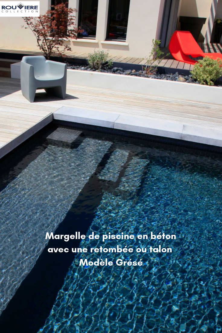 Margelle De Piscine En L Pour Une Finition Parfaite Aspect Beton Margelle Piscine Escalier Piscine Piscine Et Jardin