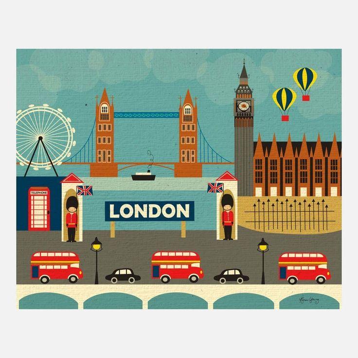 London Landmark Illustration By Karen Young