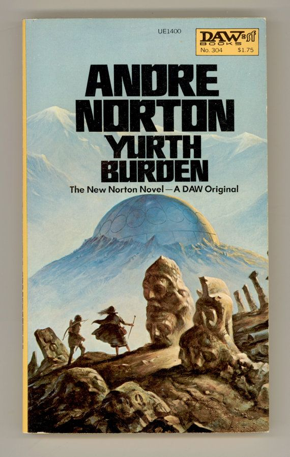 Book Cover Fantasy Jobs : Andre norton yurth burden vintage paperback book science