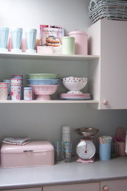Cute Pastel Kitchen Accessories.