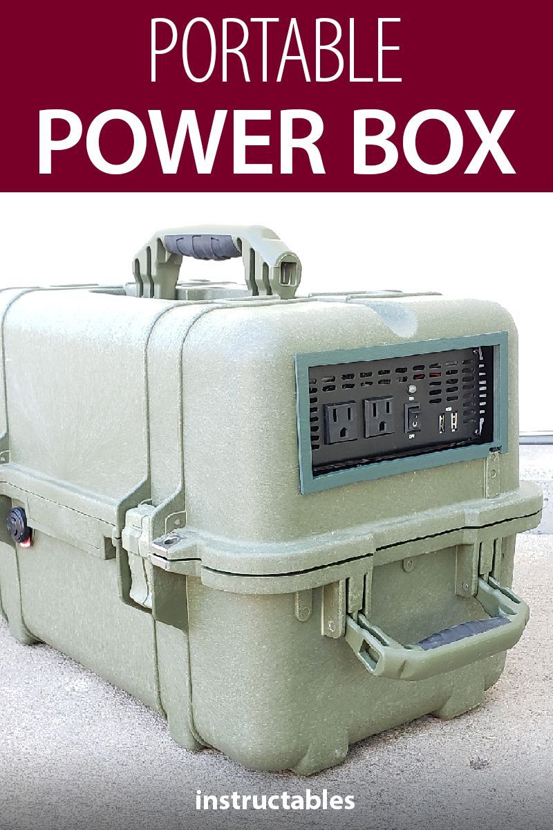 Portable Power Box Camping Pinterest Generator How To Make Home Electrical Wiring A Great For And Emergency Situations Tinkercad Circuit Electronics Electricity