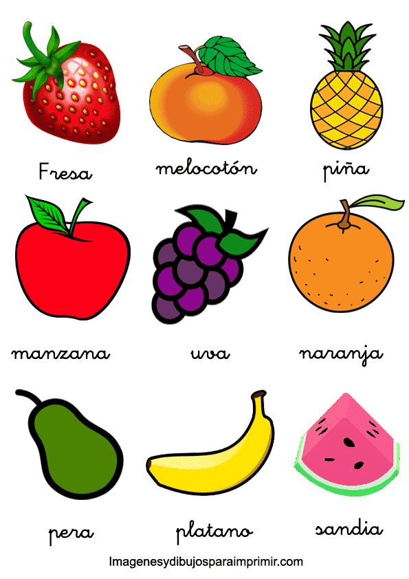 memorama de frutas y verduras para imprimir   Imagenes y dibujos ...