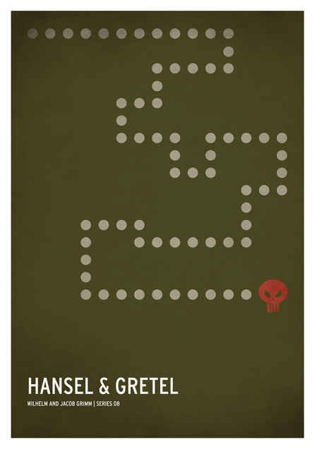 Hansel & Gretel | 19 Minimalistic Posters Of Your Favorite Childhood Stories