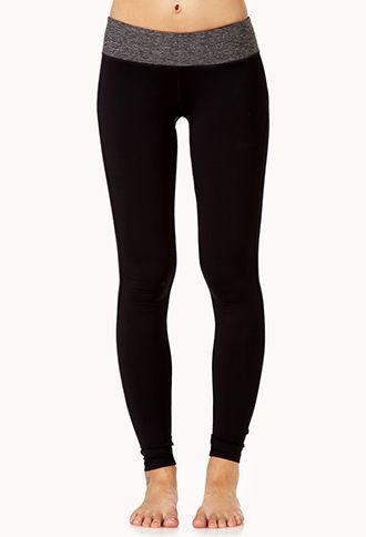 Mélange Skinny Workout Leggings   FOREVER21 - 2040496807