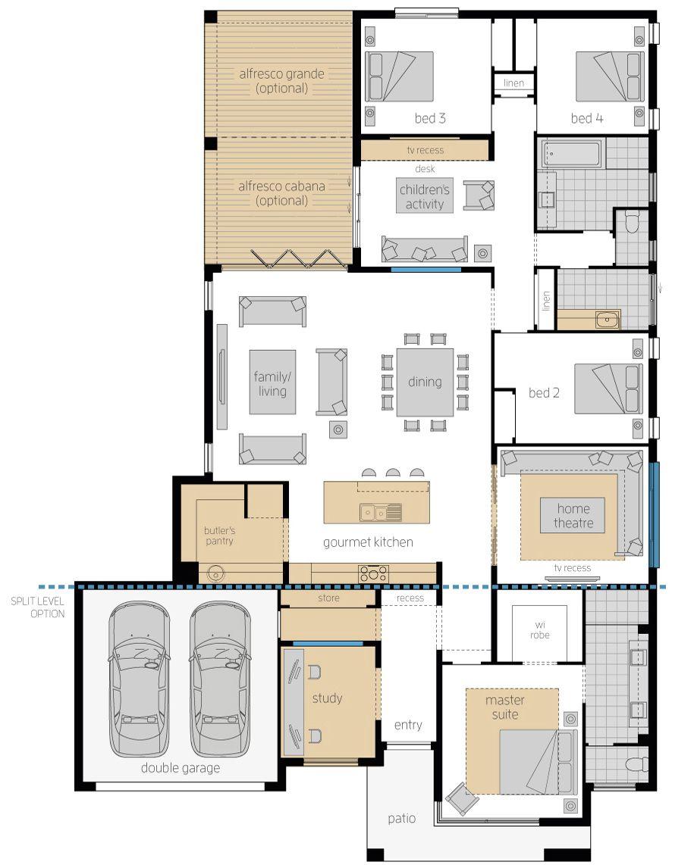 Capri Luxury New House Design Mcdonald Jones Homes House Plans Australia House Floor Plans House Plans