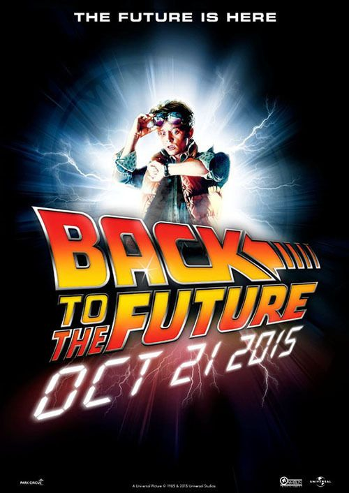 back to the Future poster 5 size 8.3X11.7/&11,7X16.5 reproduction
