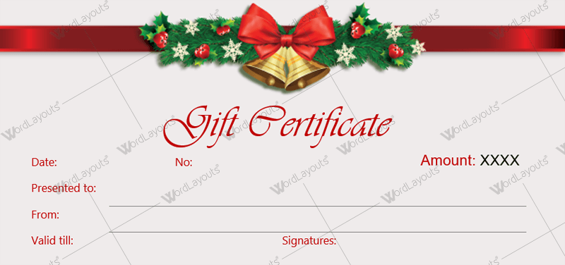 christmas gift voucher template printable word