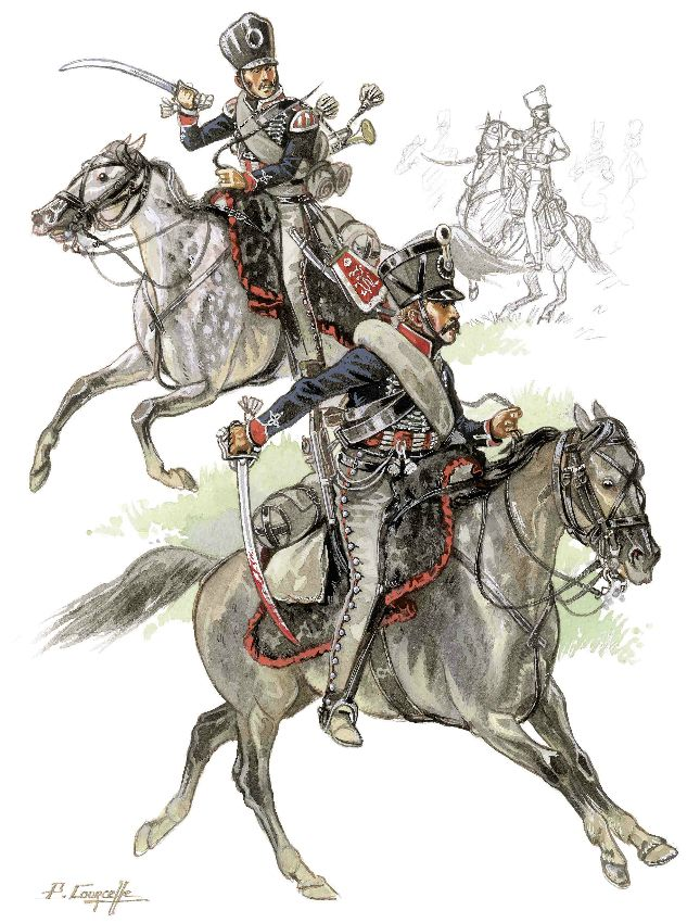 Prussian Hussars, by Patrice Courcelle