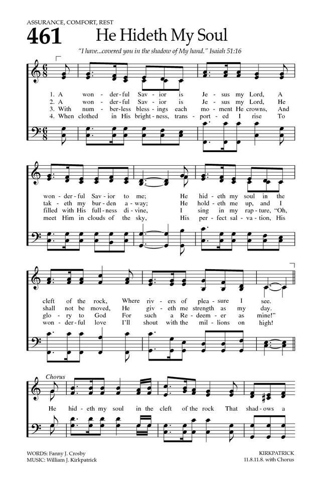 Baptist Hymnal 2008 461 A Wonderful Savior Is Jesus My Lord