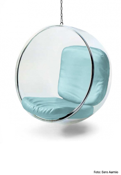 fine mod imports bubble hanging chair in polished chrome eero aarnio
