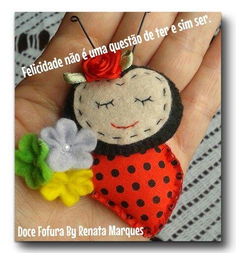 Joaninha de feltro- Doce Fofura By Renata Marques