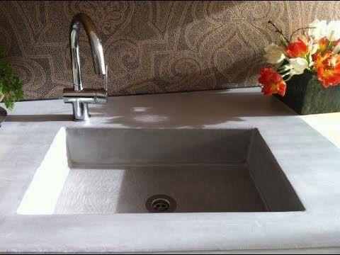 in betonlook selber einen sp lstein bauen bad pinterest. Black Bedroom Furniture Sets. Home Design Ideas