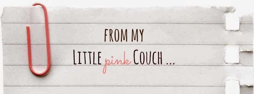 from my little pink couch ...
