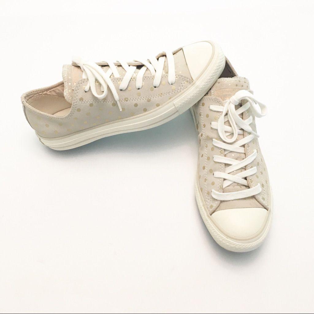 Converse Shoes Converse Gold Polka Dot Suede Low Rise  Converse Gold Polka Dot Suede Low Rise