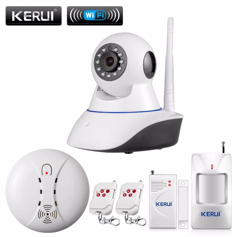 Kerui 720 p rede wifi câmera ip megapixel hd de segurança sem fio sistema de alarme de segurança câmera digital ir infrared night vision