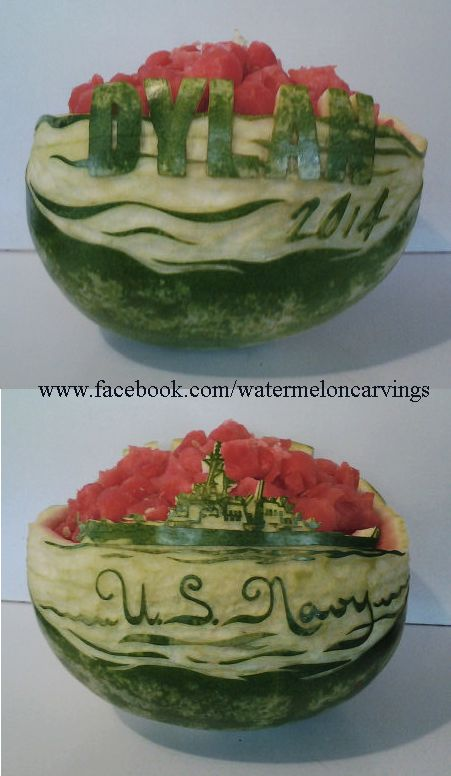 Dylan\'s Open House Watermelon Carving. He will be going into the ...