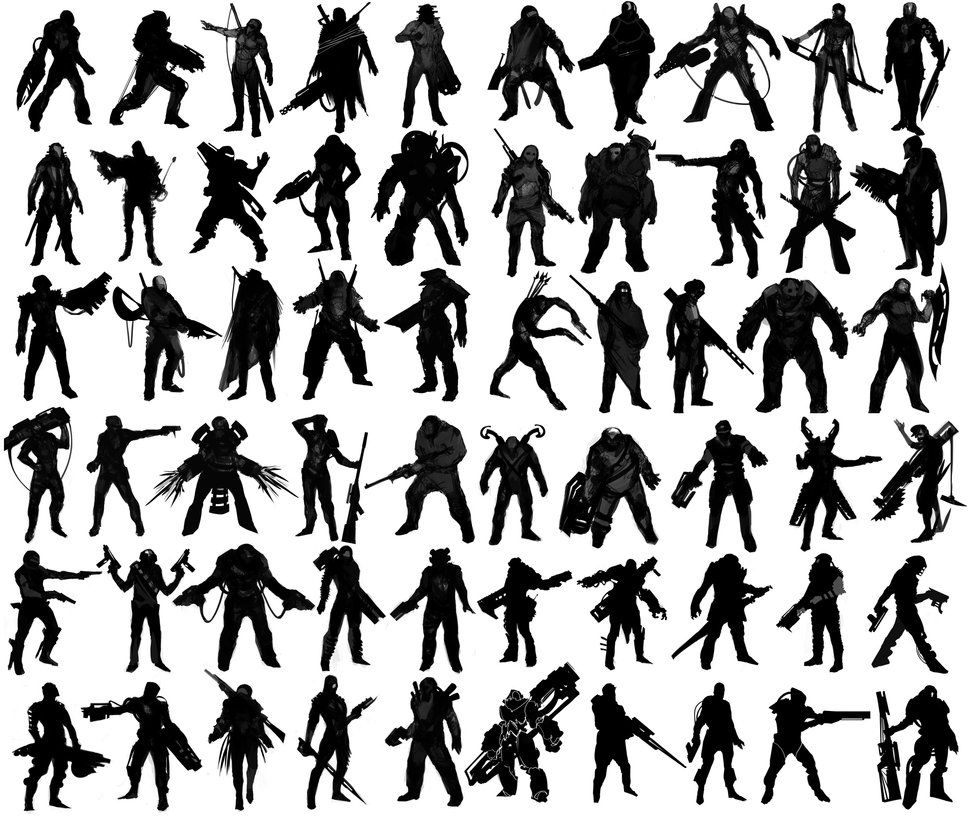 Character Design Silhouette Tutorial : Character design references https facebook