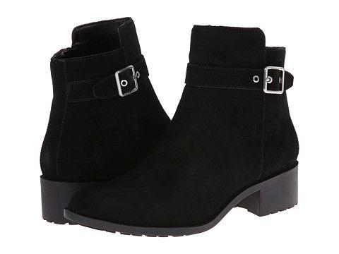 Womens Boots Cole Haan Indiana Short Boot Waterproof Black Suede