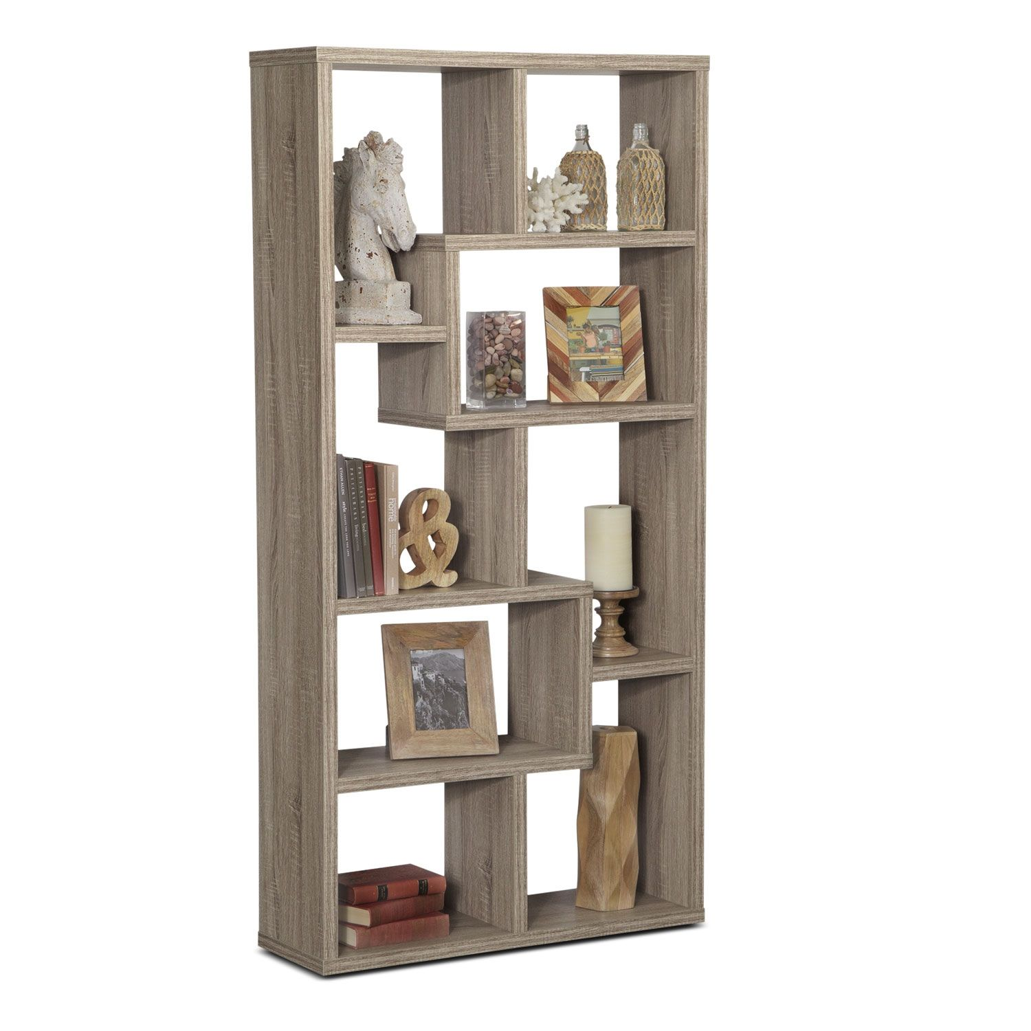 Cool Bookcase accent and occasional furniture - obsidian bookcase - taupe this
