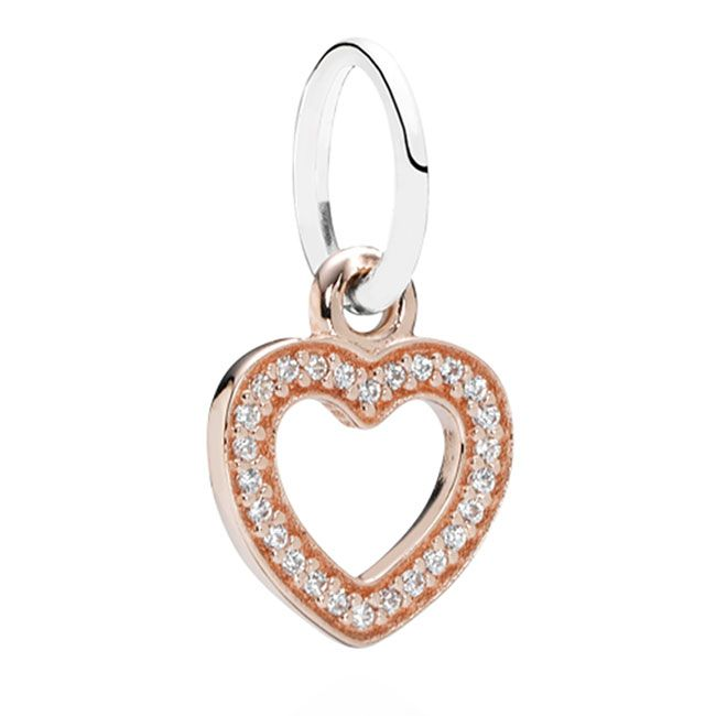 848d2522d Pandora Symbol of Love Heart Rose Gold with Clear CZ Pendant ...
