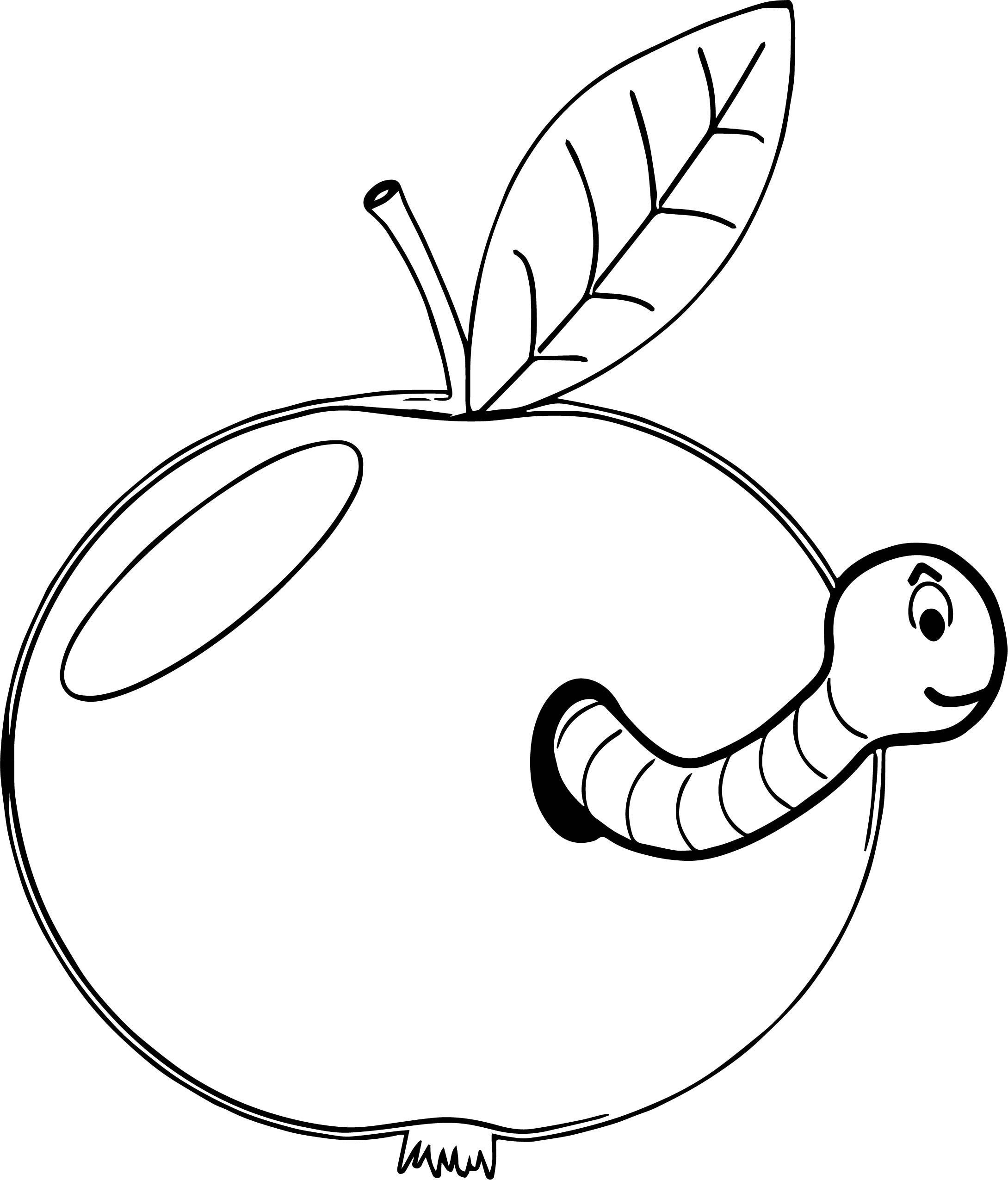 Nice Apple And Worm Coloring Page Coloring Pages Free Printable Coloring Sheets Bible Coloring Sheets