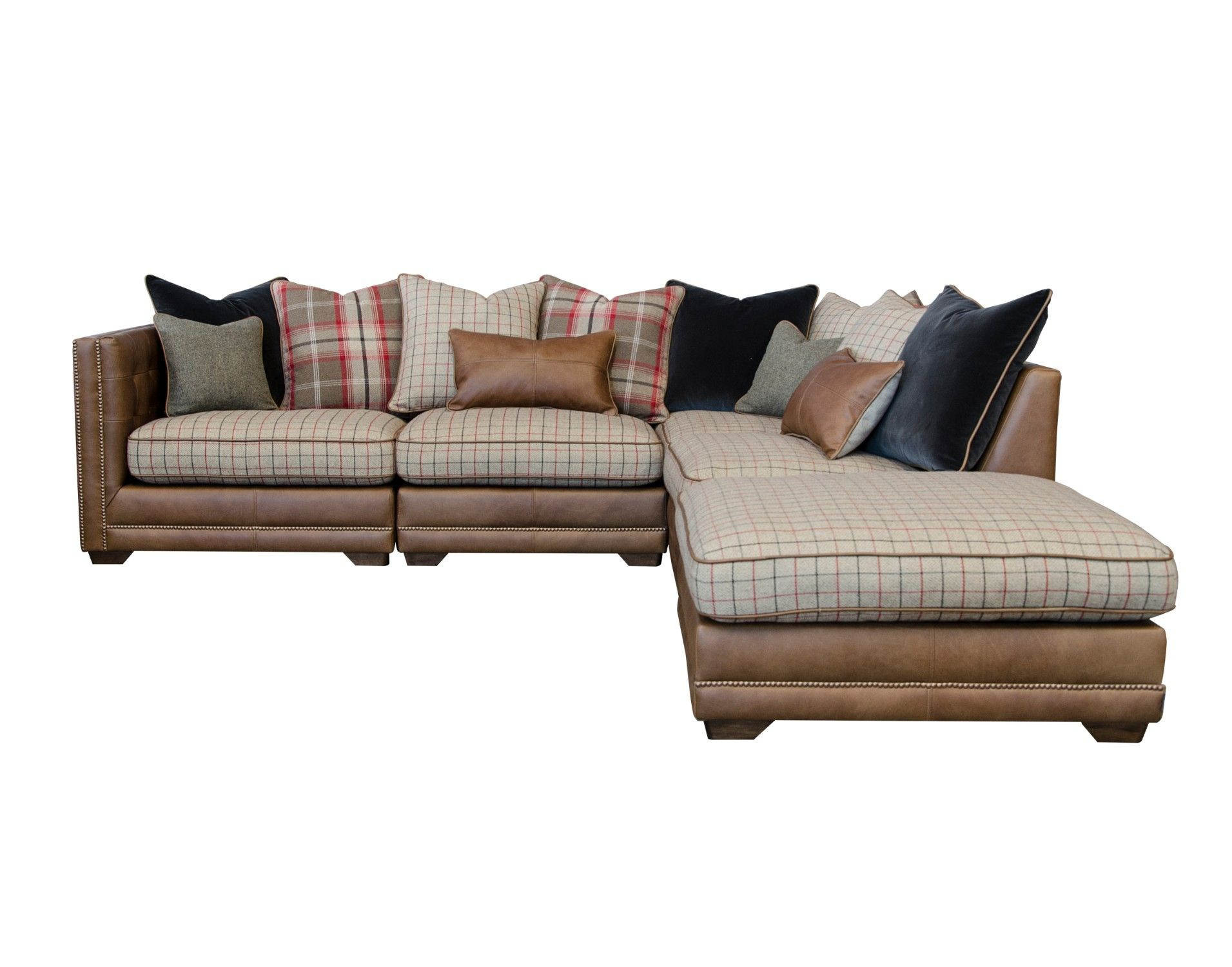 The timeless Wallace pillow back 5 piece corner unit with