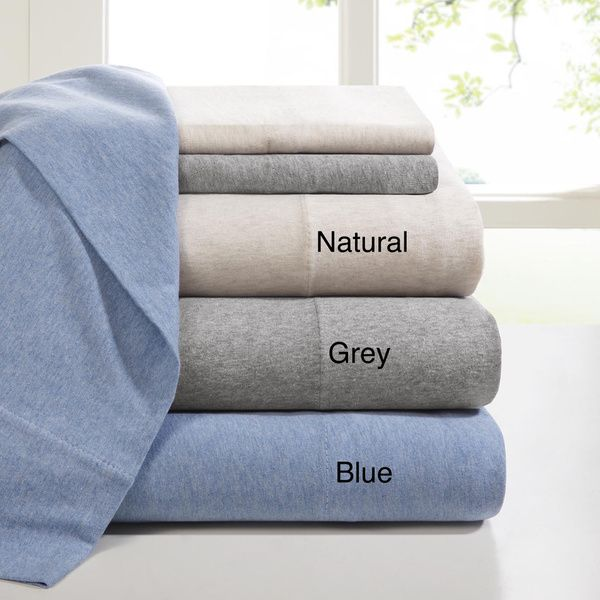 Ink+Ivy Brand Heathered Cotton Jersey Knit Sheet Set