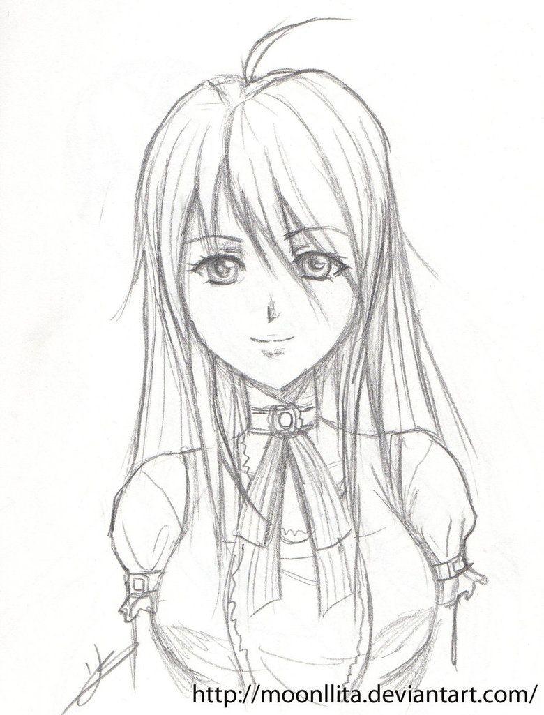 anime drawings in pencil girls and DI class