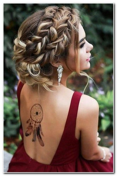 Party Hairstyles For Medium Length Hair Thick Hair Styles Prom Hair Updo Medium Hair Styles