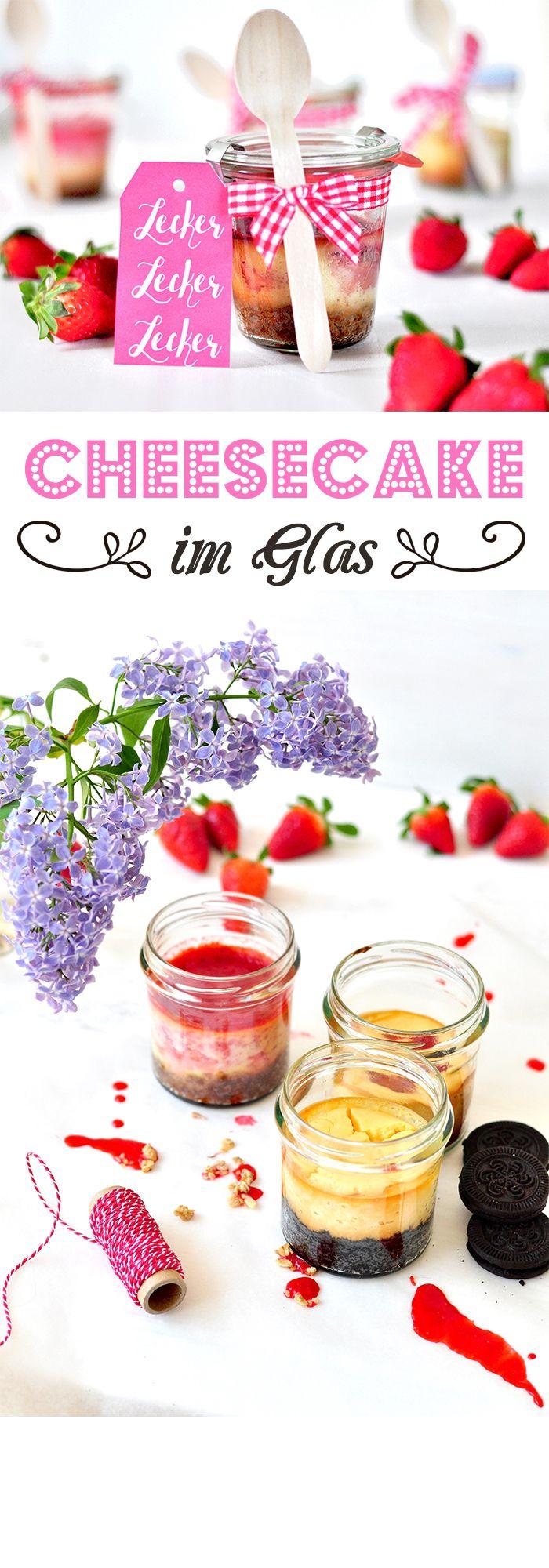 Leckers Mitbringsel: Cheesecake im Glas mit Erdbeer-Topping und Freebies zum Runterladen!