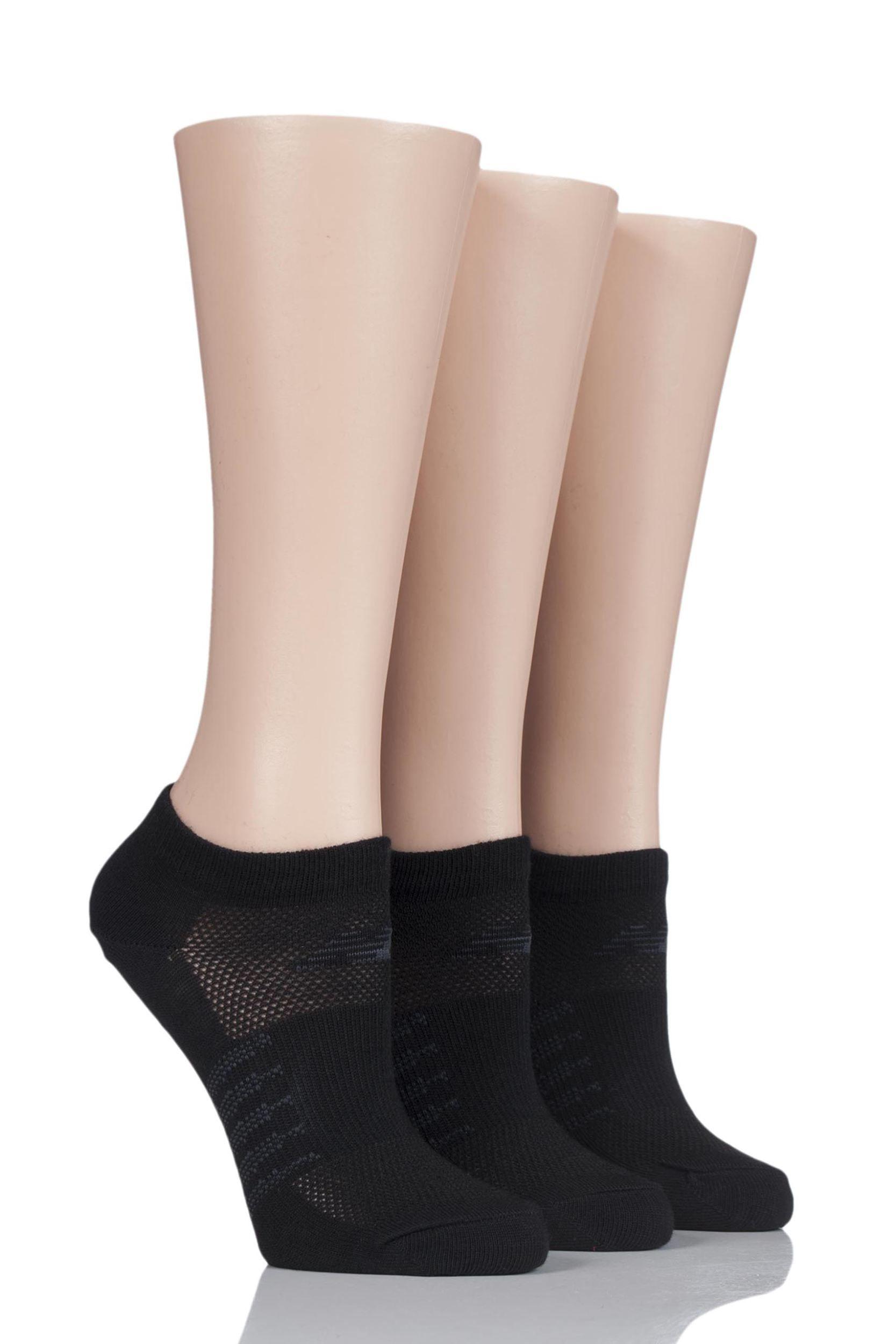 5b87e48420fcd Mens and Ladies 3 Pair New Balance Active Elements No Show Socks ...