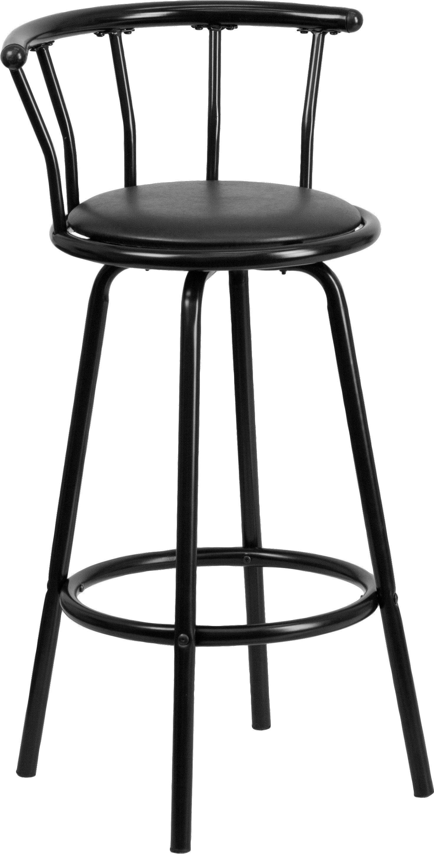 Autry Black Swivel Barstool Metal Bar Stools Contemporary Bar
