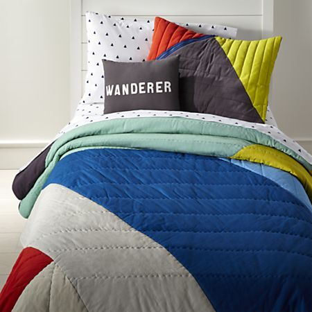 Color Block Bedding Crate And Barrel Zip Up Bedding Childrens