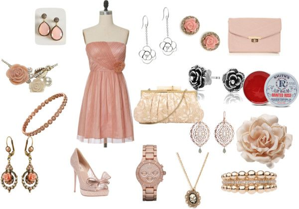 """""""pink lace roses"""" by nnn333 ❤ liked on Polyvore"""