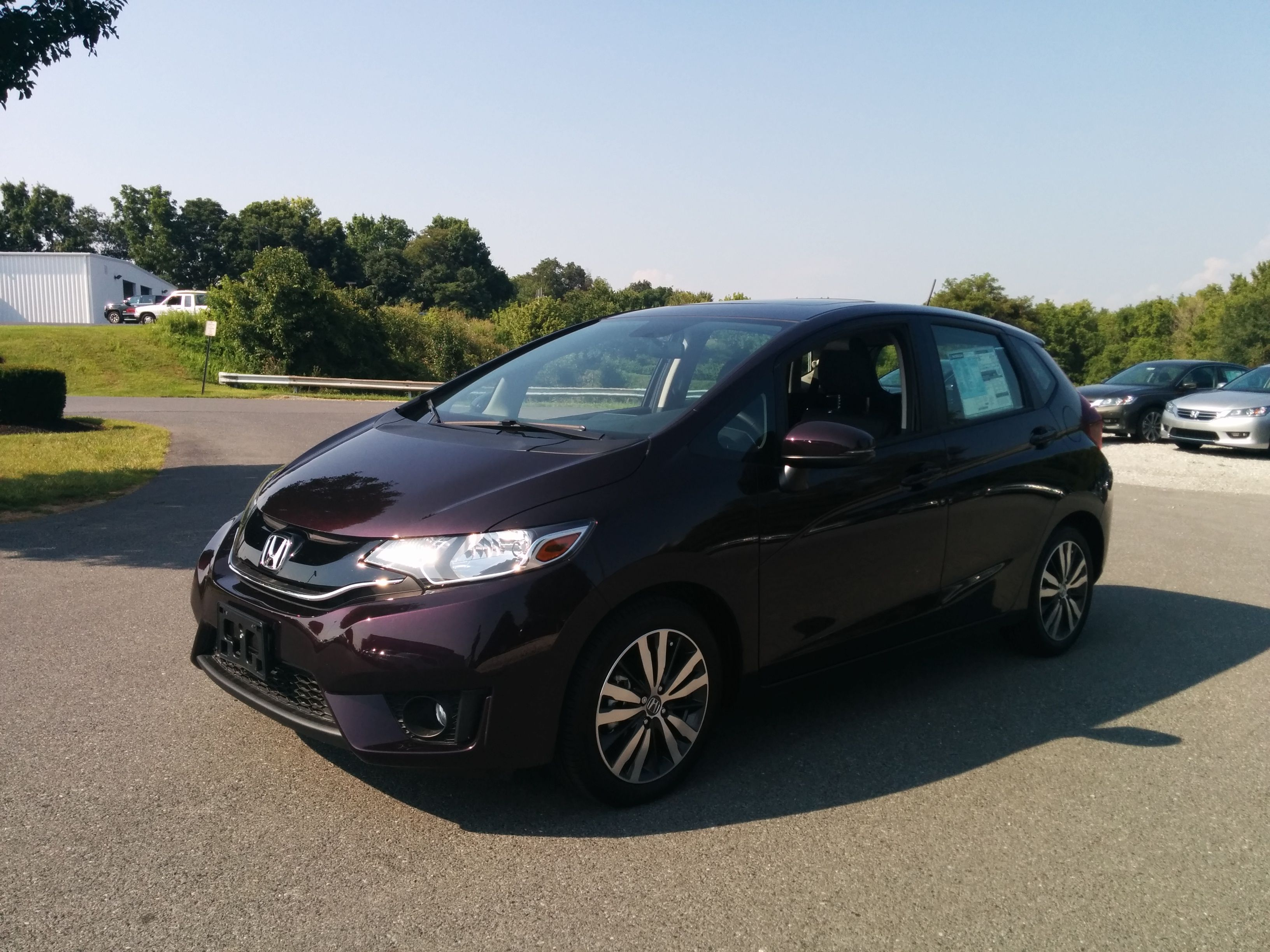 2015 Honda Fit EX L CVT w Navigation in Passion Berry Pearl
