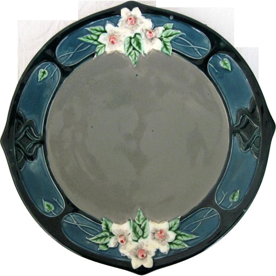 Art Nouveau Majolica Plate By Eichwald $43.