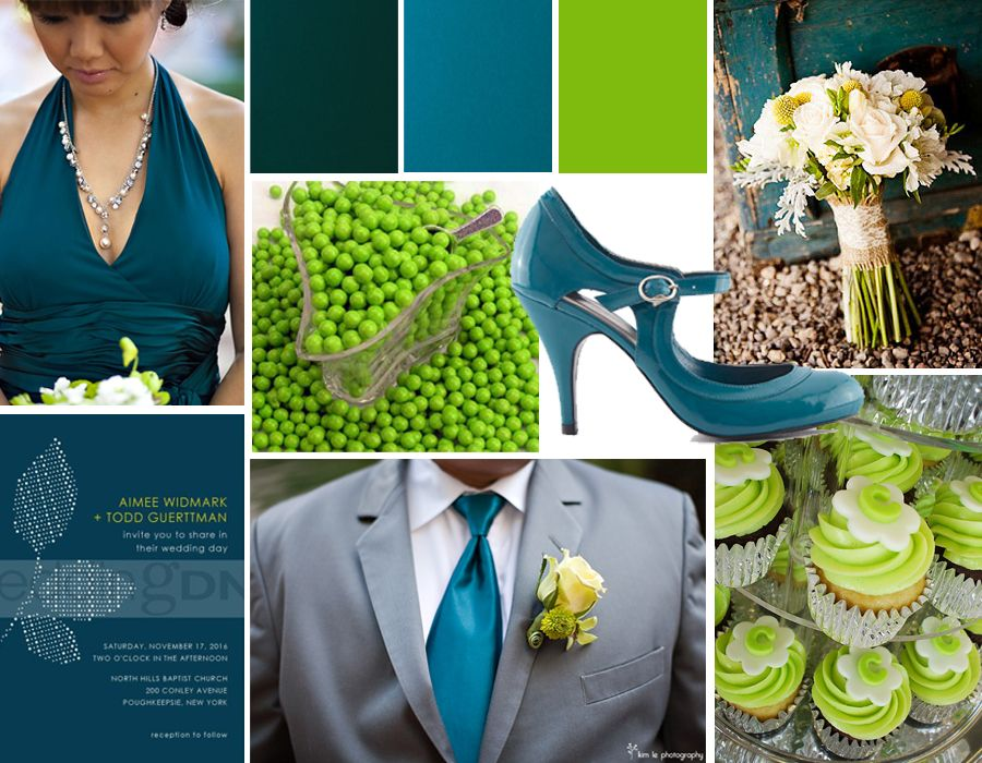 Teal And Green Wedding