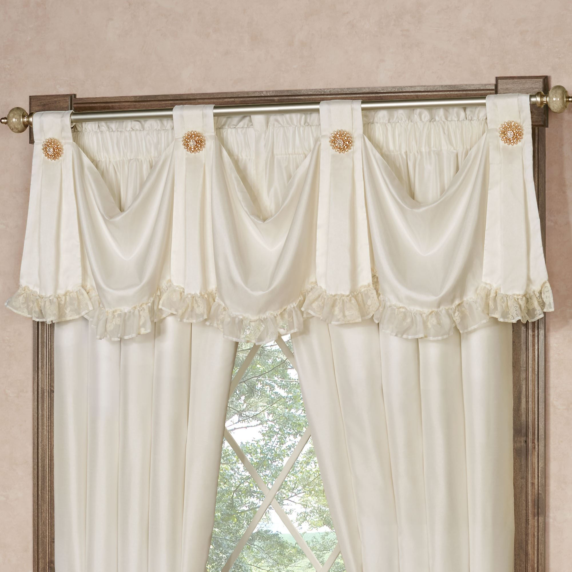 Cameo Lace Romantic Vintage Style Grande Bedspread Bedding Lace Window Treatments Bed Spreads Valance
