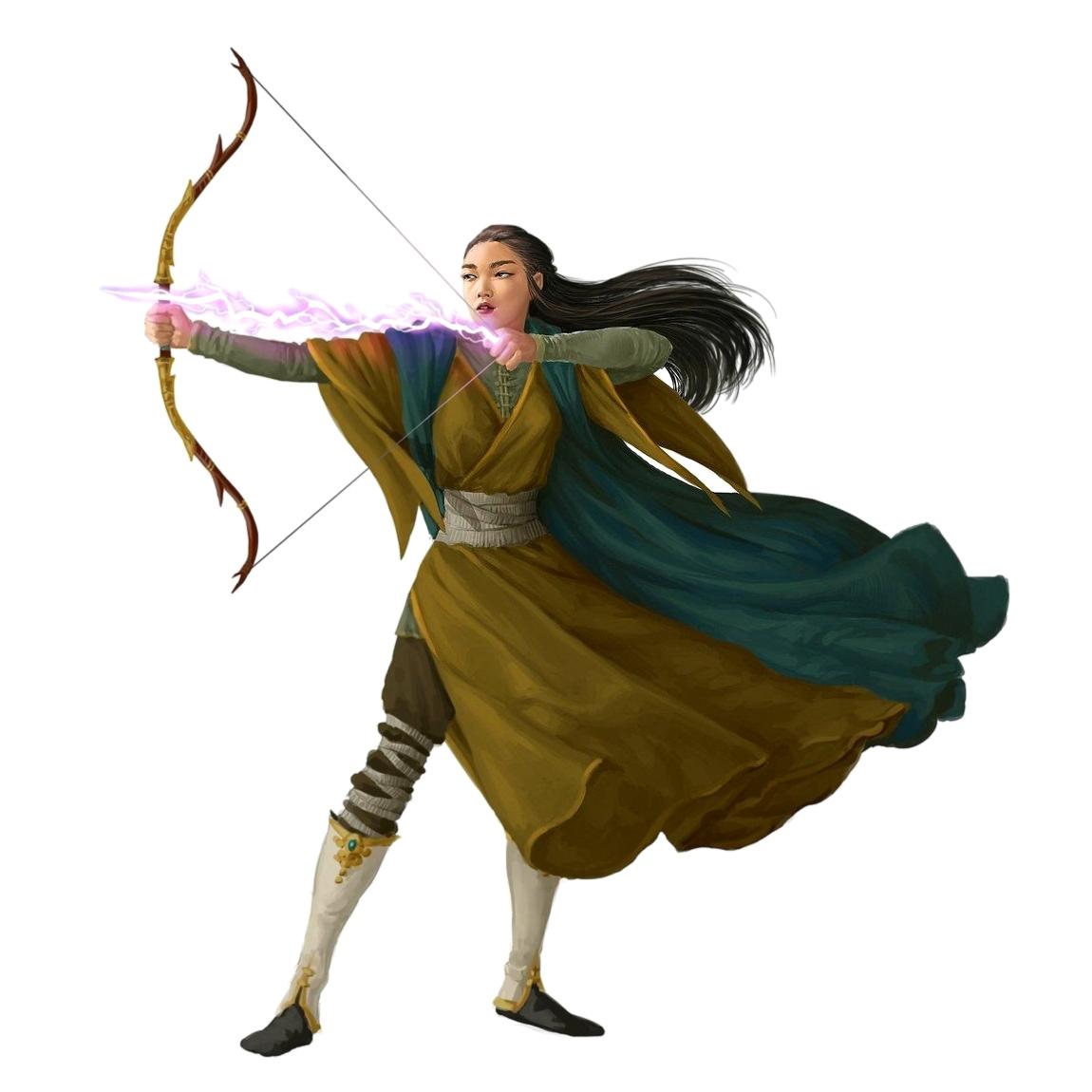 Female Human Arcane Archer - Pathfinder PFRPG DND D&D 3 5