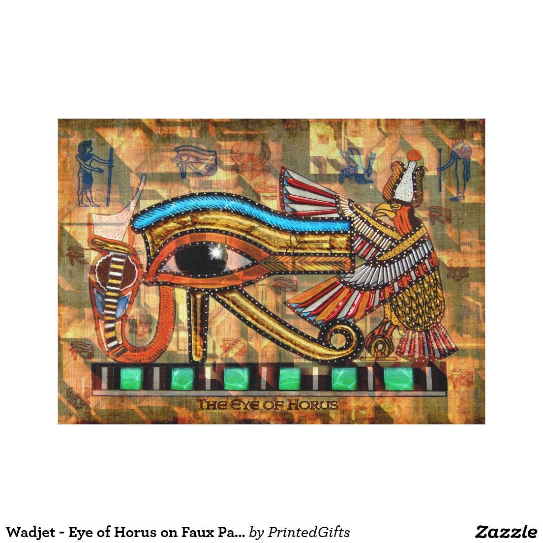 Wadjet Eye Of Horus On Faux Papyrus Print Zazzle Com