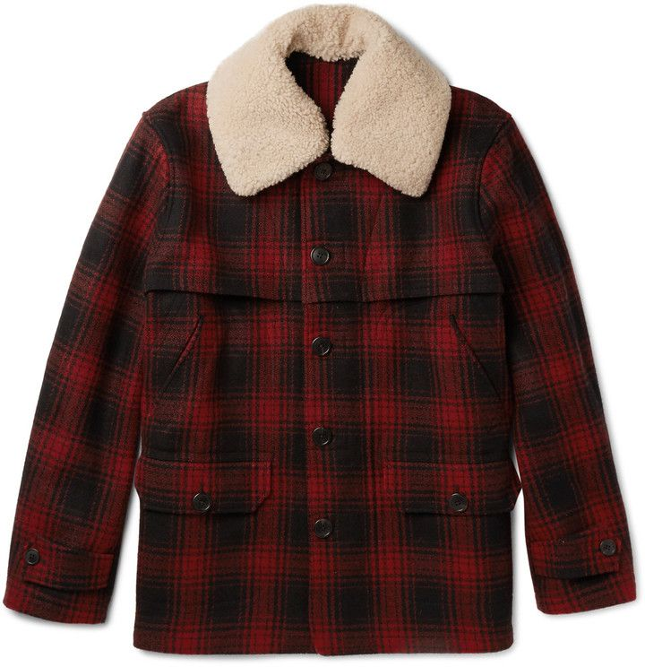 Surplus Clic Lumberjack Hooded Jacket Mens Woodcutter Check Retro Style Top S Red