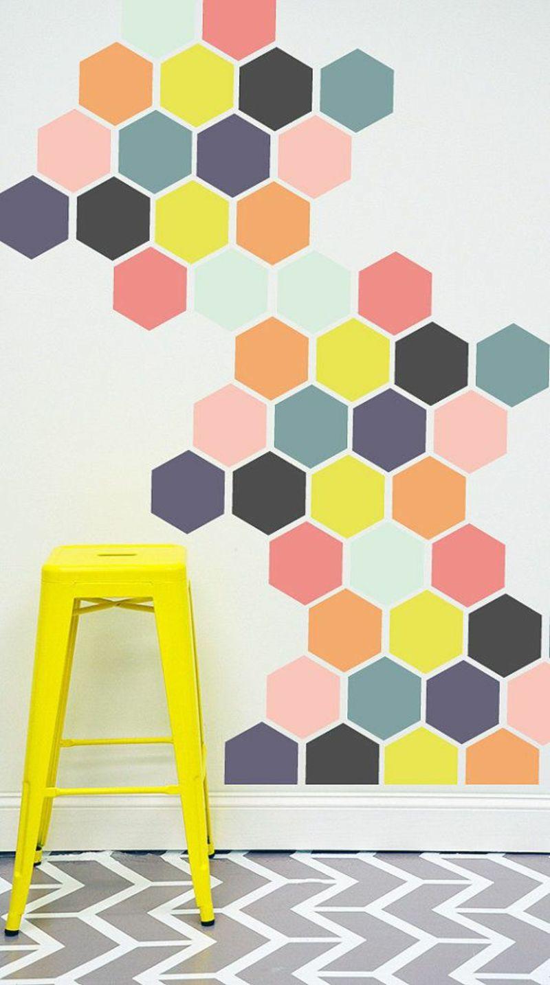 Ideen Für Kreative Wandgestaltung Mit Farbe Geometrische Muster