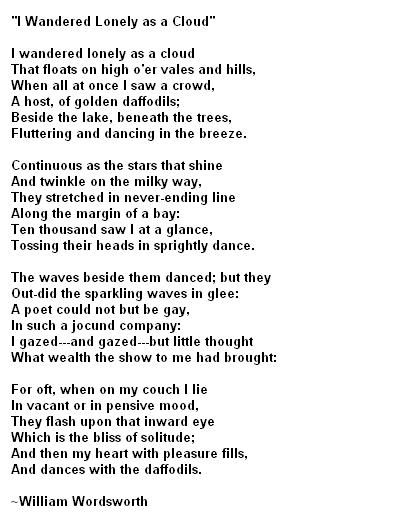 Daffodils by William Wordsworth. The first poem my husband recited ...