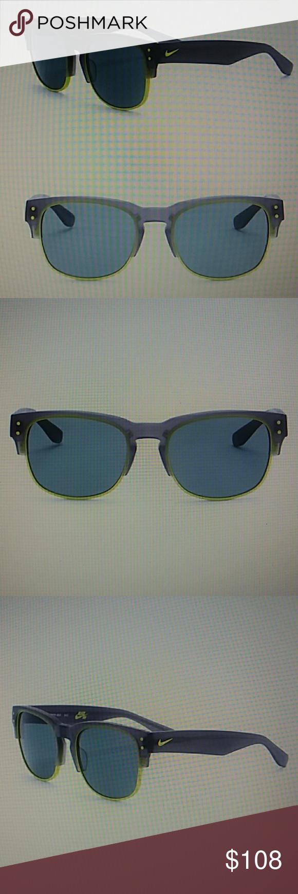 2949a2fe317b Nike Volition 54mm Clubmaster Sunglasses Stile:Clubmaster Size :  54-20-140mm (eye-bridge-temple) Frame color :black/green Frame Material  :Acetate/metal ...