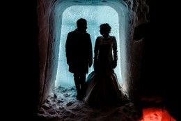 Wedding at the Icechapel of Arctic Snowhotel in Rovaniemi in Lapland