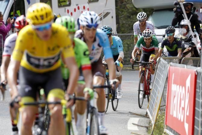 Fabio Aru Loses Contact Withe The Gc Group On The Izoard During Stage 18 At The Tour De France Tour De France Lotto Soudal Geraint Thomas
