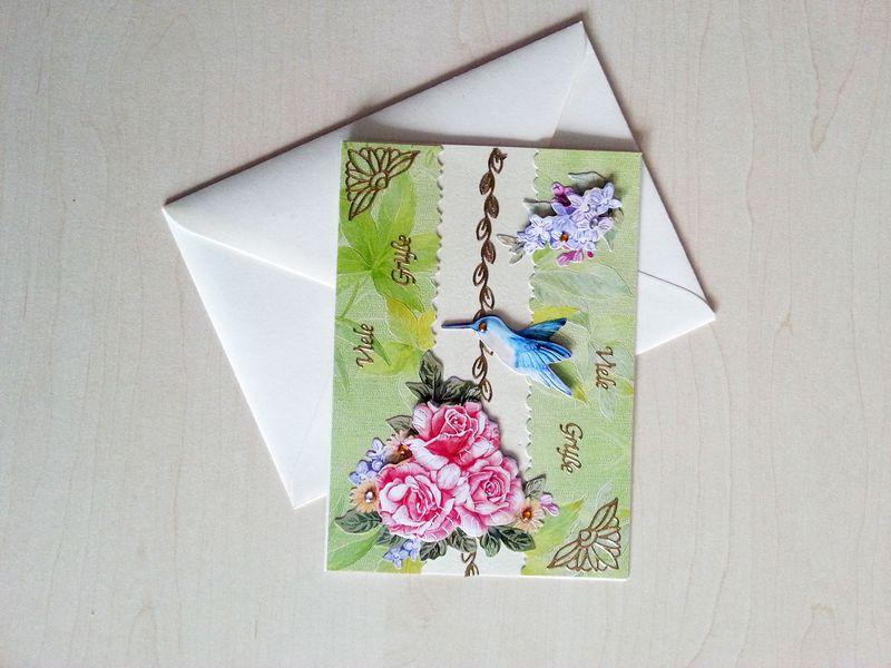 """Geburtstagskarte """"Kolibri"""""""